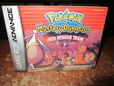 Gameboy Advance Pokemon Mystery Dungeon Red Rescue Team      Booklet Only