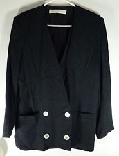 *NWT* LARRY LEVINE WOMENS LADIES BLACK LIGHT JACKET SIZE 8 T216