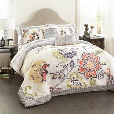 Lush Decor C41833P15-000 5-Piece Aster Quilted Comforter Set