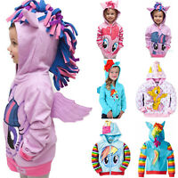 Baby Kids Girls Little Pony Hooded Jacket Sweatshirt Coat Unicorn Outwear Hoodie