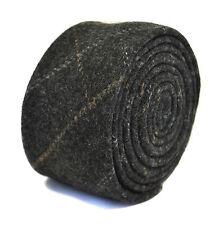 Frederick Thomas grey/gray check 100% wool tweed tie FT2170 RRP £19.99