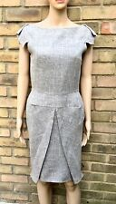 ROLAND MOURET SHADES OF GREY CLASSIC DRESS SZ 10 (MORE LIKE AN 8)