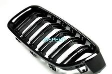 BMW DUAL Slat GLOSS BLACK GRILL GRIGLIA ANTERIORE for f80 m3/f82 m4 (no m3/m4 decals)