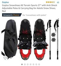 """Goplus Snow Shoes All Terrain Sports 27"""" With Anti-shock Adjustable Poles And."""