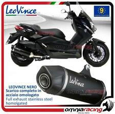 Leovince Nero  Black Steel slip-on exhaust Yamaha X-Max 400 (XMax) 2013>2016