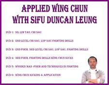 Wing Chun (6) Dvd Set kung fu sil lim tao chi sau lop sau wooden dummy kicking
