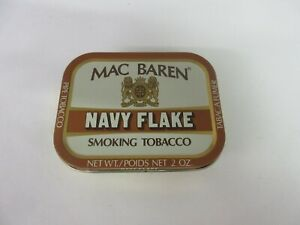 VINTAGE ADVERTISING EMPTY MAC BAREN NAVY FLAKE  POCKET TOBACCO TIN M-358