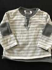 3 Pommes (France) Grey Cotton Layered Shirt - 6 Months