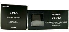 [ NEW ] Fujifilm Silver Hood LH-X70 & Case BLC-X70 BLC For Fuji Film X70 Japan