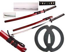 "New 41"" Musashi Burgundy Red Battle Ready Japanese Fighting Samurai Katana Sword"