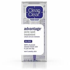Clean & Clear Advantage Acne Spot Treatment, Oil-Free Acne Medication with...
