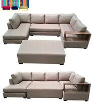 'ventura' 5 seat modular_Fixed Chaise_Timber Arm_Bed_Lounge Sofa_Australian Made