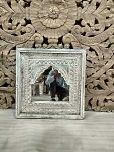 MADE TO ORDER Mehrab Indian Carved Mirror Jharokha Wooden Arch Wall Decor 60cm