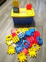 """VTG Little Tikes WEE WAFFLE BLOCKS 4"""" Lot Container Storage Bin BUILDING TOY"""
