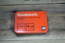 Vintage Rawlplug Rawlplastic Plugging Compound Tin EMPTY 11x8x2.5cm #3