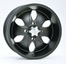 ATV UTV Alloy Wheel Rim 14x7, 4/110 PCD, 5+2 offset, ITP System 6 Black finish