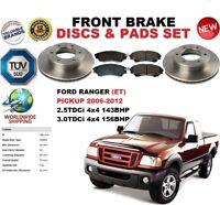 Para Ford Ranger Et Coche 4x4 2006-2012 Discos Freno Delantero Set + Pastillas
