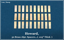 Howard Machine Personalizer (30-Brass 18pt. Spacers) Hot Foil Stamping Machine