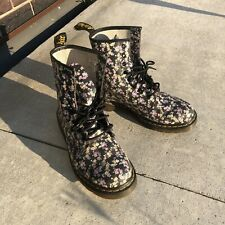 Womens US Size 11 Doc DR MARTENS Mini Tydee Floral Boot  Sold AS IS - Preowned