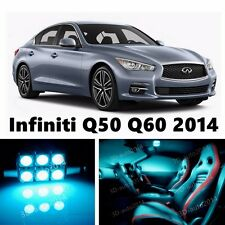 13pcs LED ICE Blue Light Interior Package Kit for Infiniti Q50 Q60 2014-2015