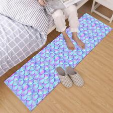 Beautiful Colorful Mermaid Fish Scales Area Rugs Bedroom Living Room Floor Mat