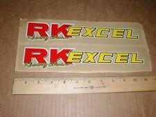2 MX Dirt Bike Motocross racing Sticker Decal Pair RK Excel Chain NOS motorcycle