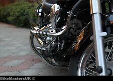 KAWASAKI VN 900 VULCAN STAINLESS STEEL HIGHWAY CRASH BAR ENGINE GUARD WITH PEGS