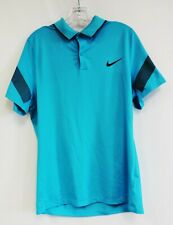 Nike Golf Dri-Fit Men's Blue Pumpkin Ridge Short Sleeve Activewear Polo Shirt S