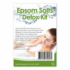 Epsom Salts Detox Kit | Natural Bath Salt | Muscle Relax Soothing Spa Gift