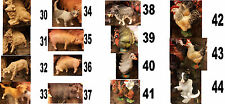 10 animali per PASTORI terracotta 12 CM costumi storici shepherds crib  crèche