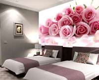 3D Pink Rose Bouquet 7 Paper Wall Print Wall Decal Wall Deco Indoor Wall Murals