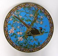 Taille Xxl Assiette Bronze Japon Meiji Émail