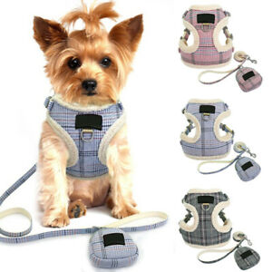 Warm Dog Harness and Lead Winter Pet Cat Puppy Vest Clothes Coats for Chihuahua