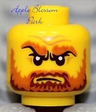 NEW Lego Pirate MINIFIG HEAD Kingdoms Castle Knight King w/Brown Beard Moustache
