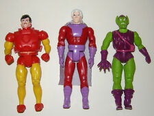Vintage 1991 Toybiz Marvel Superheroes action figure lot Magneto Green Goblin
