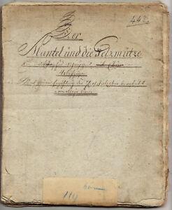 Joseph A. Gleich, Der Mantel und die Pelzmütze, Theater, Handschrift, um 1820