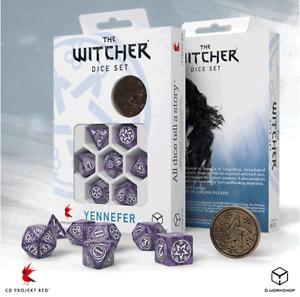The Witcher RPG Dice set Geralt Yennefer Dandelion : CD Projekt Red : Q Workshop