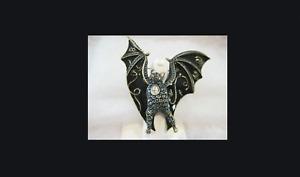 SIGNED Heidi Daus Going Batty Crystal and Enamel Pin SWAROVSKI CRYSTALS MUST!!