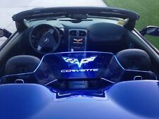 WindRestrictor® Wind Deflector screen blocker for C6 Corvette Convertible blue