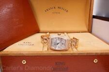Franck Muller Conquistador King 18K Rose Gold 12.3ctw Diamond Case & Bracelet