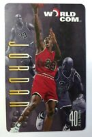 1997 97 WORLDCOM 40 Minutes Phone Card MICHAEL JORDAN, Chicago Bulls