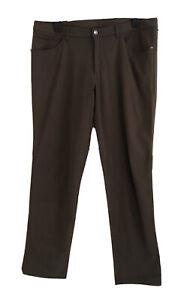 LULULEMON Mens Classic Khaki Stretch Pants. Size 38. EUC