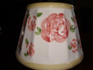 Ceramic Roses Lamp Shade Candle Jar Topper