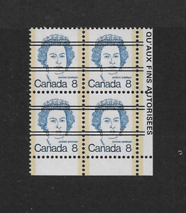 1972 CANADA- Queen Elizabeth 11 Corner Block- MNH