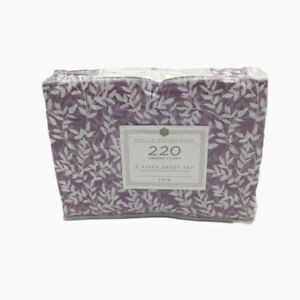 """New Basic Collection 3 Piece Twin Sheet Set 220 Thread Count 14"""" in Deep"""