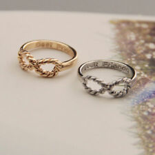 2pcs BFF Letter Best Friend Punk Siver&Gold Infinity 8 Bowknot Friendship Rings