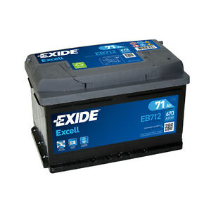 EB712 Exide Excell 71Ah 670CCA 12v Type 096 Car Battery 3 Year Warranty 096SE