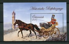 Austria 2017 MNH Post Mail Coach Drawn by Single Horse 1v M/S Horses Stamps