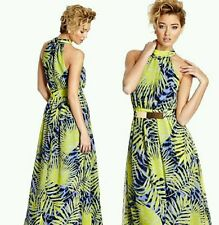 💚💕 $389 GUESS BY MARCIANO RIO PRINT SILK MAXI GOWN DRESS 💚💕