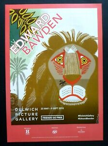 EDWARD BAWDEN Dulwich Picture Gallery   2018 ART EXHIBITION POSTER